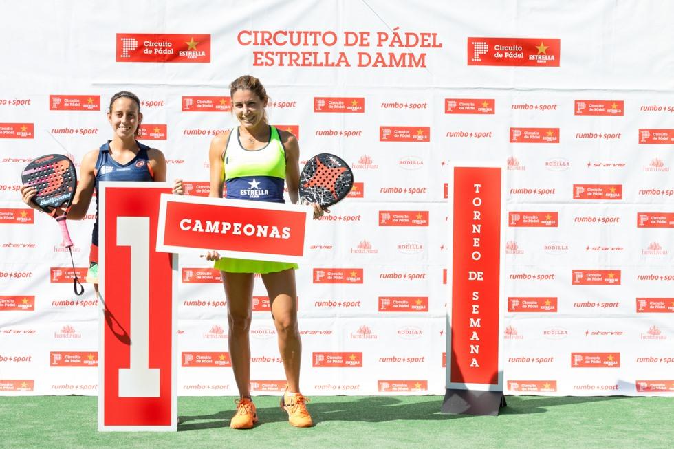 Lorena Alonso y Marta Talavan campeonas circuito de padel Estrella Damm en Somontes