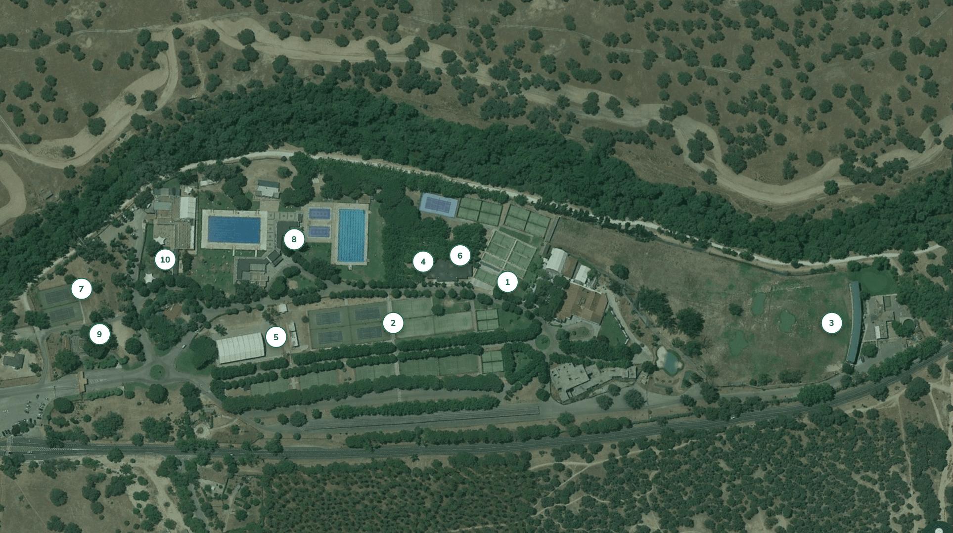 foto satelital de las instalaciones