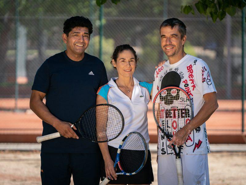 Carlos Castillo, Virginia Ruano y Pepo Clavet