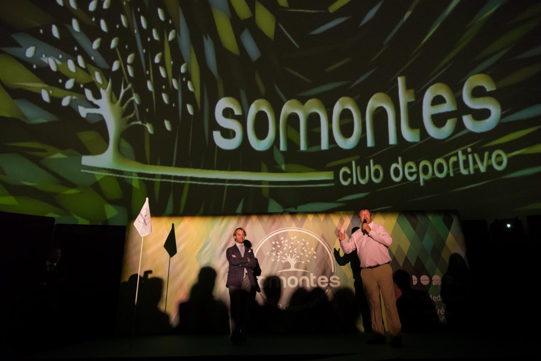 Presentación del áera de golf en el domo de Somontes